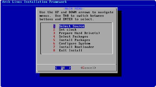 configurer xserver arch linux installer