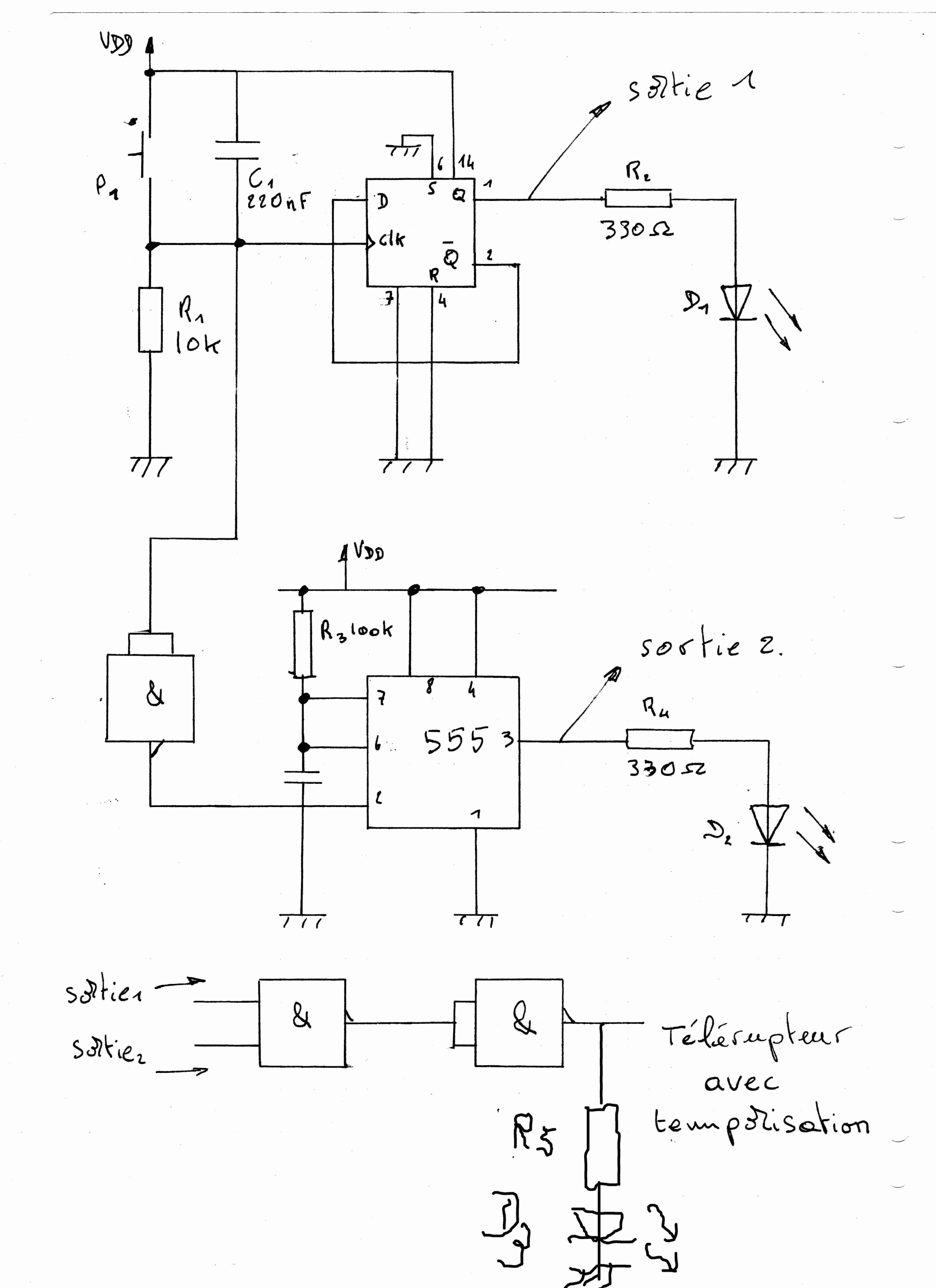 Electronique pb de bistable temporis par sub z ro for Bascule transistor