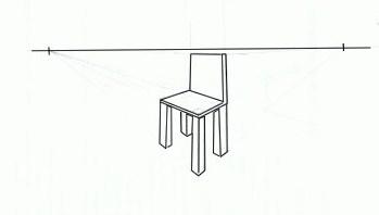 Utiliser la perspective for Chaise 3d dessin