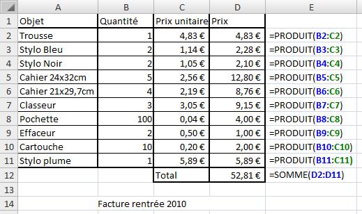 Les fonctions d 39 excel analysez des donn es avec excel - Bon prix suivi de commande ...