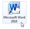 Lancement de Word via son icône