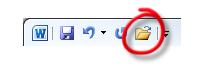 L'icône Ouvrir a été ajoutée