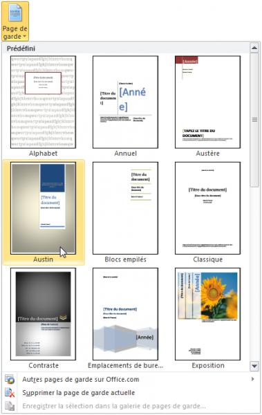 Mise en forme du document r digez facilement des - Page de garde rapport de stage open office ...