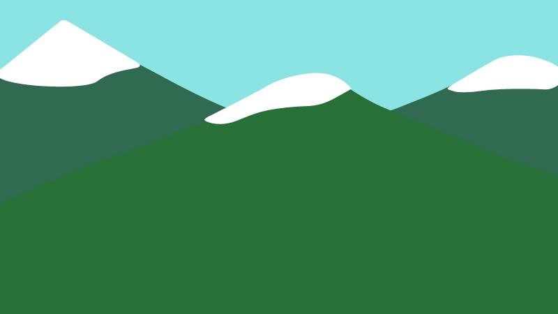 de même pour les deux autres montagnes puis le ciel