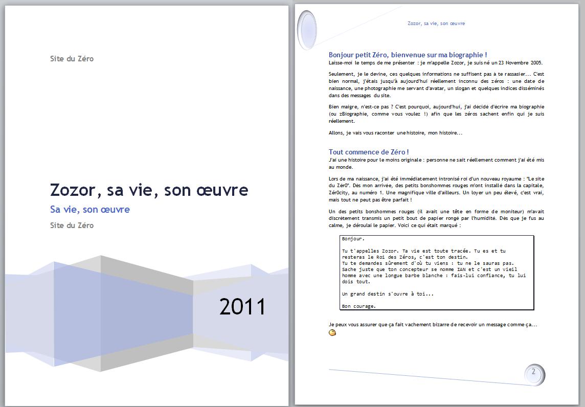 Tp r diger un rapport r digez facilement des documents avec word - Mettre une couette facilement ...