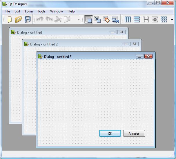 Programme MDI : Qt Designer