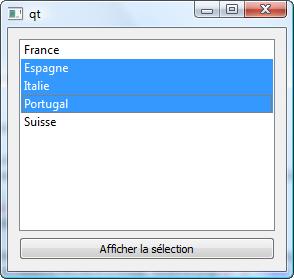 Sélection multiple