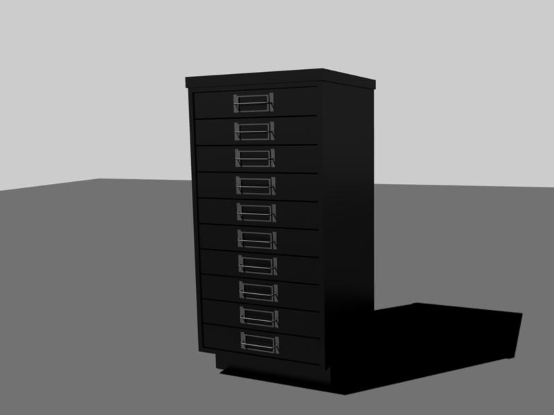 Blender meuble r alisation d 39 un meuble en 3d par for Meuble 3d