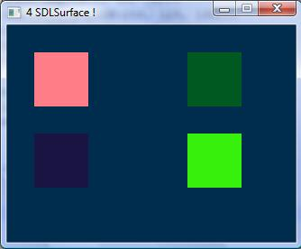 4 SDLSurfaces
