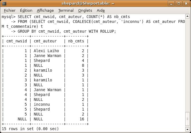 Il faut qu'à la base les données ne contiennent pas de NULL, on transforme donc les données au préalable dans une sous-requête