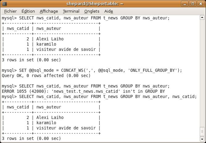 Eviter les erreurs avec ONLY_FULL_GROUP_BY
