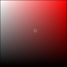 Incrustation couleur - Zone de couleurs dans le sélecteur