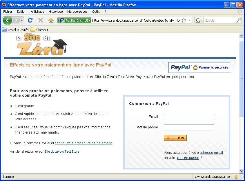 Paiement PayPal