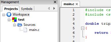 Liste des fichiers d'un projet simple