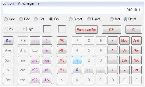 Calculatrice Windows - Windows Vista