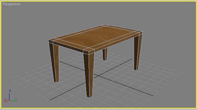 Initiation au texturing et application concr te 3ds max for Table 3d dessin