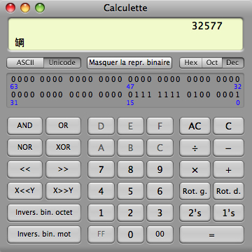 calculatrice programmeur