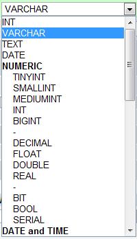 Types de données MySQL