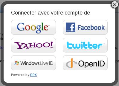 Fenêtre de connexion pour un compte externe sur le Site du Zéro