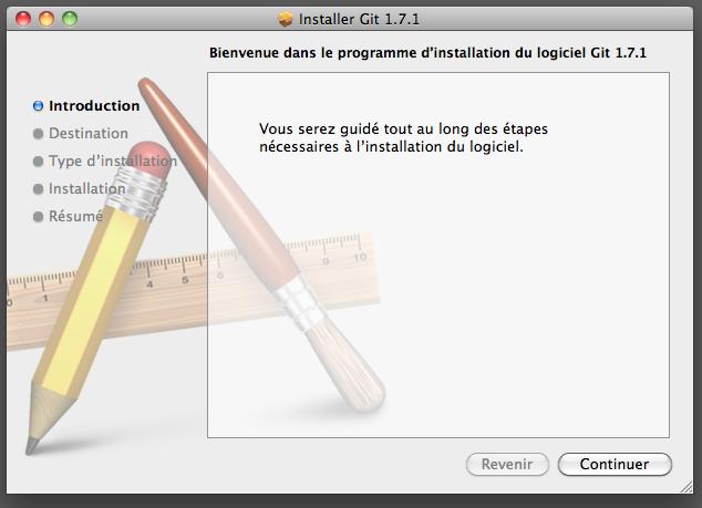 Installer OS X de git