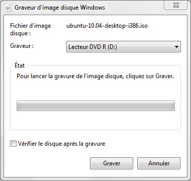 Gravure ISO sous Windows 7