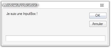 Une InputBox
