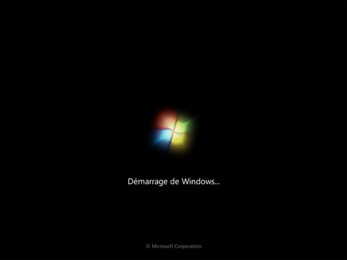 Démarrage de Windows 7