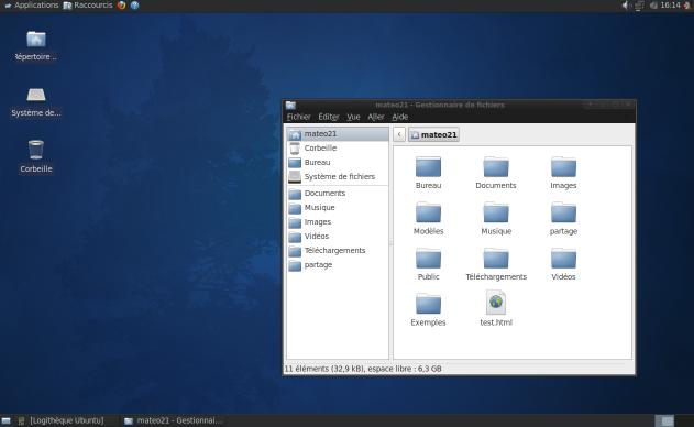 Xubuntu, basé sur XFCE