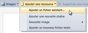 « Ajouter un fichier existant…»