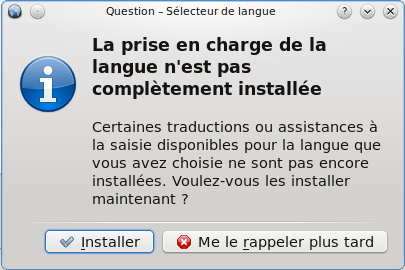 Installation des traductions