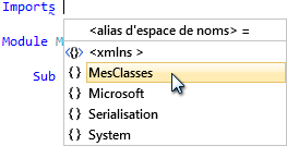 Visual Studio nous aide