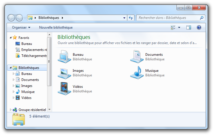 Le bureau et ses diff rents l ments d butez en for Affichage fenetre miniature windows 7