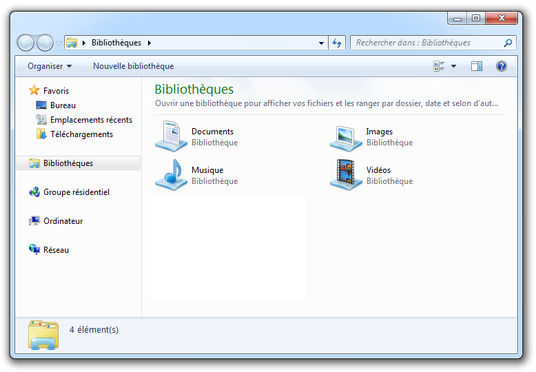 La navigation dans windows d butez en informatique avec for Fenetre windows 7 outils