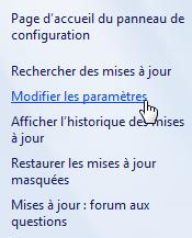 Modifier les paramètres de Windows Update