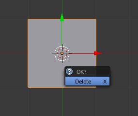 Supprimez le cube en cliquant sur Delete