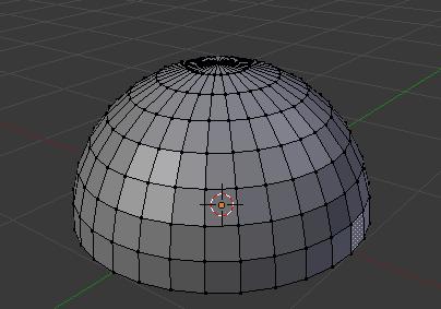 Voici notre demi-sphère