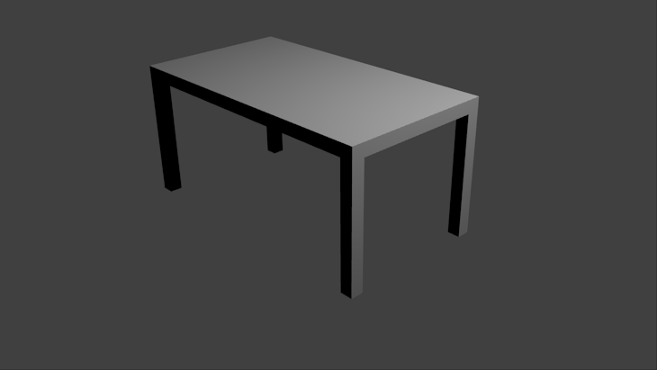 Notre première table en 3D… quel moment d'émotion !
