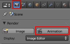 Le bouton Animation