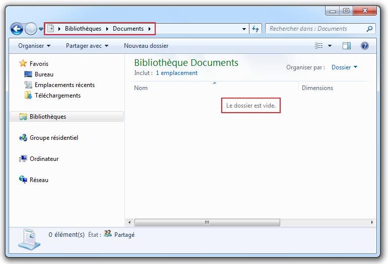 Bibliothèque > Documents