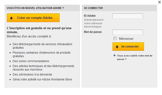 Adobe Photoshop CS5 : compte
