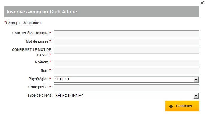 Adobe Photoshop CS5 : inscription