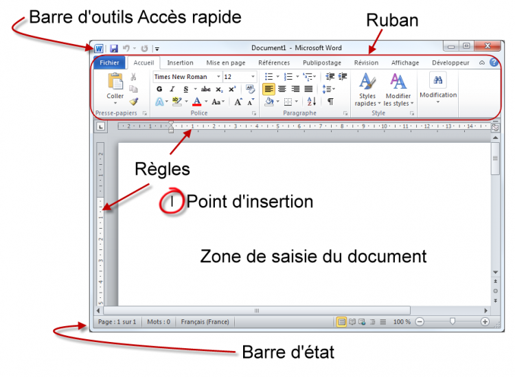 D couverte et lancement de word r digez facilement des for Fenetre meaning in english