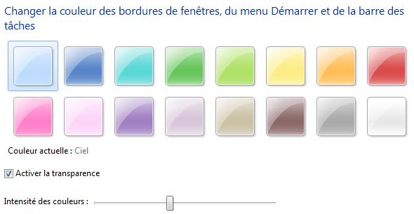 Changer la couleur des fenêtres
