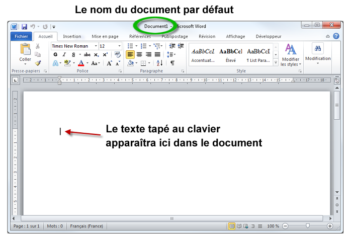 cr u00e9er un nouveau document - r u00e9digez facilement des documents avec word