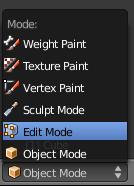 Passer en Edit Mode