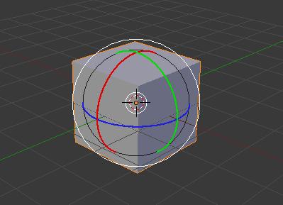 Les widgets en mode rotation sur le cube