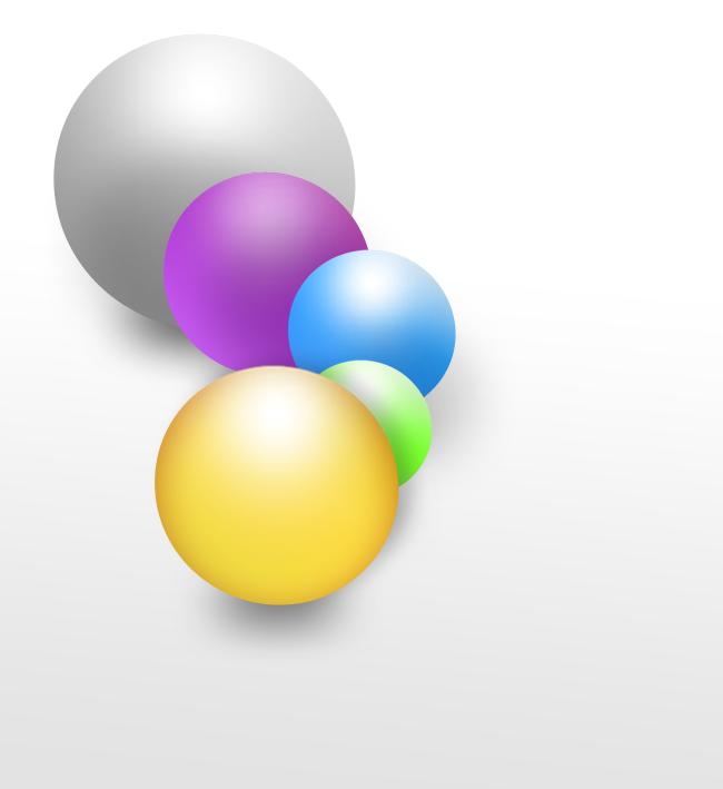 Les calques - Exemple avec les boules
