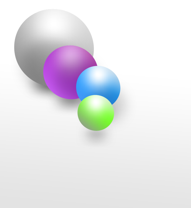 Les calques - Exemple d'utilisation correcte (avec les boules)