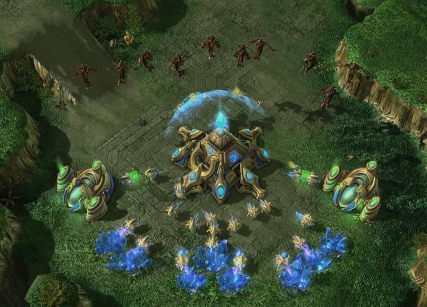 Les jeux vidéo (ici Starcraft II) sont le plus souvent développés en C++