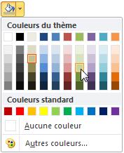 Choix de la couleur d'arrière-plan